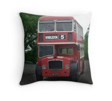 London Bus Throw Pillow