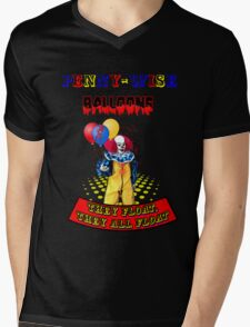 Penny-Wise Balloons Mens V-Neck T-Shirt