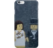 A cold snowy wedding ceremony iPhone Case/Skin