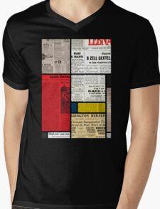 Mondrians News Mens V-Neck T-Shirt