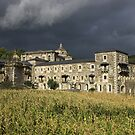 storm clouds over Samos Monastery, Galicia by Christopher Barton