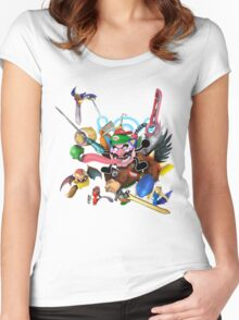 My smash main Women's Fitted Scoop T-Shirt