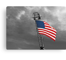 'Tis the star-spangled banner! Oh long may it wave!  O'er the land of the free and the home of the brave! Canvas Print