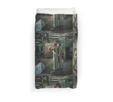 The Girl With a Gas Mask Duvet Cover