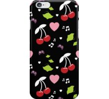 Cherries, Hearts and Music iPhone Case/Skin