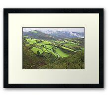 green hills of Galicia Framed Print