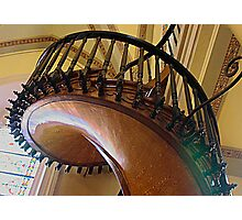 Curved,Carved Stairway Photographic Print