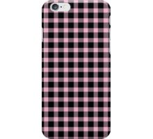Pink and Black Buffalo Check Pattern iPhone Case/Skin