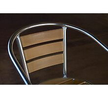 Cafe Chair Photographic Print