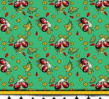 LADYBUGS GREEN by veggiemuse