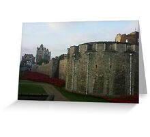 London Towers Greeting Card