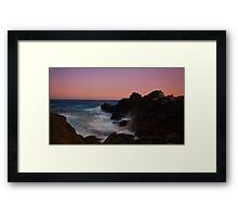 silky waves Framed Print