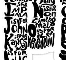 The ABC's of SPN Sticker