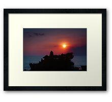 Indonesia  4 - Tanah Lot  sunset Framed Print
