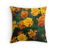 Fall Marigolds Throw Pillow
