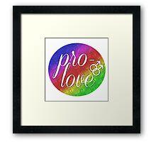 Pro- Love - Gay Framed Print
