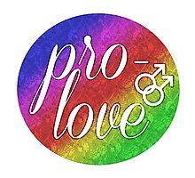 Pro- Love - Gay Photographic Print