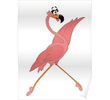 Pretty Flamingo Poster