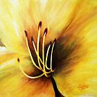 The Lily's heart , Acrylic painting by Esperanza Gallego