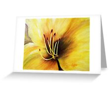 The Lily's heart , Acrylic painting Greeting Card