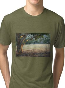 Kangaroos in the Field - Kangaroo Island  Tri-blend T-Shirt