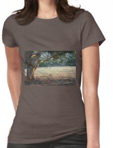 Kangaroos in the Field - Kangaroo Island  Womens Fitted T-Shirt