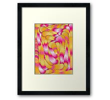 Funky,doodle,70's,pattern,colorful,fun,happy,template,trendy Framed Print