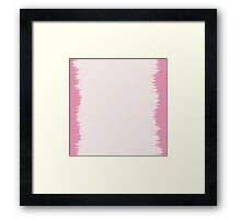 Funky Pink and White Pattern Framed Print