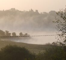 misty morning by worcswarrior