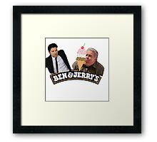 Parks And Rec Ben & Jerry's Ice Cream Framed Print