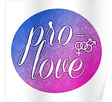 Pro- Love- Bisexual Male Poster