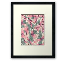 vintage,doodle,abstract,vector,art,template,fun,colorful,happy Framed Print