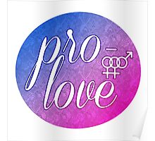Pro- Love- Bisexual Female Poster