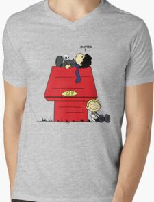 A Three Patch Problem Mens V-Neck T-Shirt