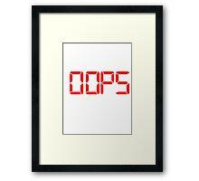 00PS Framed Print