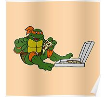 TMNT - Michelangelo with Pizza Poster