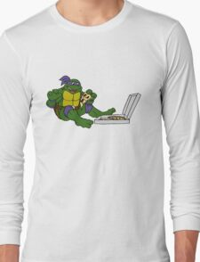 TMNT - Donatello with Pizza Long Sleeve T-Shirt