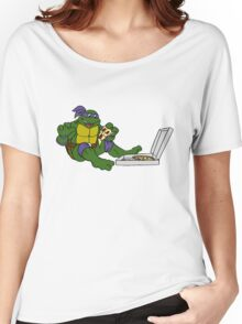 TMNT - Donatello with Pizza Women's Relaxed Fit T-Shirt