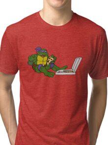 TMNT - Donatello with Pizza Tri-blend T-Shirt