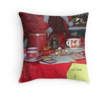 The House of Santa... Throw Pillow