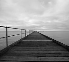 Black and White Pier by Bianca Robinson
