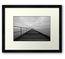 Black and White Pier Framed Print