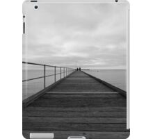 Black and White Pier iPad Case/Skin