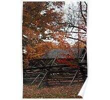Autumn in Colonial Williamsburg Poster