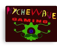 Hand Drawn logo for Psychewave Gaming Canvas Print