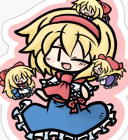 Alice Margatroid and her dolls Sticker