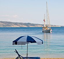 Sailing off Kerasia Beach, Corfu by dunawori