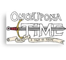 Once Upon Adventure Time Canvas Print