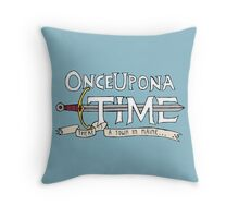 Once Upon Adventure Time Throw Pillow