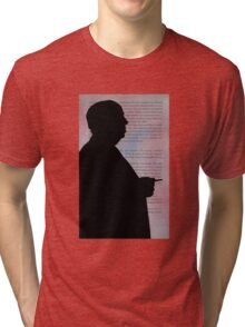Alfred Hitchcock Silhouette Movie Director Tri-blend T-Shirt
